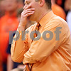 Beck Diefenbach - bdiefenbach@daily-chronicle.com<br /> <br /> DeKalb head coach Dave Rohlman reacts as the clock counts down during the fourth quarter of the sectional championship game against Oswego at Hampshire High School in Hampshire, Ill., on Friday March 12, 2010. Oswego defeated DeKalb 57 to 51, ending the Barb's season.
