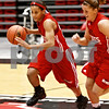 Beck Diefenbach – bdiefenbach@daily-chronicle.com<br /> <br /> Northern Illinois' Bianca Brown (left) and  Brittney Callahan during the team's first practice of the season at NIU's Convocation Center in DeKalb, Ill., on Monday Oct. 4, 2010.
