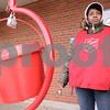 Kyle Bursaw – kbursaw@daily-chronicle.com<br /> <br /> Jessica Collins rings the Salvation Army bell outside the Jewel-Osco on Friday, Nov. 19, 2010, in DeKalb, Ill.