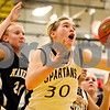 Rob Winner – rwinner@daily-chronicle.com<br /> Sycamore's Jessica Pluhm controls an offensive rebound during the third quarter. Sycamore defeated Kaneland, 62-52.