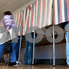 Kyle Bursaw - kbursaw@daily-chronicle.com<br /> <br /> Voters cast fill out their ballots at Hopkins Park Terrace Room in DeKalb, on Nov. 2, 2010.