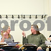 Beck Diefenbach  -  bdiefenbach@daily-chronicle.com<br /> <br /> From right to left, students Kaitlin Scully, Michelle O'Shaughnessy, Jordan Farley and Heather Hassberger talk in sign language during class in Wirtz Hall on the campus of Northern Illinois University in DeKalb, Ill., on Monday March 29, 2010.