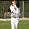 Beck Diefenbach  -  bdiefenbach@daily-chronicle.com<br /> <br /> DeKalb's Frank Petras (14) catches a fly ball in the outfield during the seventh inning of the game against Batavia at DeKalb High School in DeKalb, Ill., on Thursday April 15, 2010. Batavia defeated DeKalb 7 to 4.