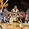 Rob Winner – rwinner@daily-chronicle.com<br /> <br /> Northern Illinois guard Xavier Silas moves the ball during the first half in DeKalb, Ill. on Monday November 29, 2010.
