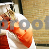 Beck Diefenbach  -  bdiefenbach@daily-chronicle.com<br /> <br /> Taylor Anderson (second from left) hugs junior class president Steff Tassone  before the graduation ceremony at Sandwich High School in Sandwich, Ill., on Sunday May 23, 2010.