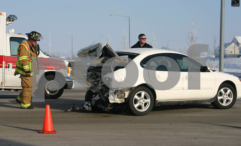 One woman was injured in a two-car accident after her vehicle was rear-ended at the intersection of Ward Boulevard and Peace Road Wednesday morning. <br /> <br /> Nicole Weskerna nweskerna@daily-chronicle.com