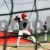 Rob Winner – rwinner@daily-chronicle.com<br /> <br /> Jordin Hood takes works on his swing during NIU baseball practice on Thursday April 1, 2010 in DeKalb, Ill.