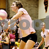Rob Winner – rwinner@daily-chronicle.com<br /> <br /> DeKalb's Emily Bemis bumps a Kaneland serve during the first game against Kaneland in DeKalb, Ill. on Tuesday October 12, 2010. DeKalb went on to defeat Kaneland, 25-18 and 25-11.