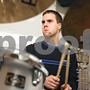 Rob Winner – rwinner@daily-chronicle.com<br /> <br /> Tim Christensen, of Cortland, bangs away at the drums during band practice at the home Dave Young in Cortland, Ill. on Wednesday March 17, 2010.