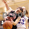 Beck Diefenbach  -  bdiefenbach@daily-chronicle.com<br /> <br /> Indian Creek's Sarah Faivre (30) tries to hold onto a rebound during the second half of the Little 10 Tournament semi-final game against H-BR at H-BR in Hinckley, Ill., on Thursday Jan. 21, 2010. H-BR defeated Indian Creek 69 to 34.