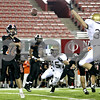 Rob Winner  -  rwinner@daily-chronicle.com<br /> <br /> DeKalb quarterback Brian Sisler passes during the second quarter in DeKalb, Ill. on Friday September 10, 2010.