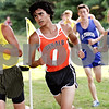 Beck Diefenbach  -  bdiefenbach@daily-chronicle.com<br /> <br /> DeKalb's Matthew Phanenbecker (center) and Sycamore's Mike Stice compete in the Sycamore Invitational event at Kishwuakee Community College in Malta, Ill., on Tuesday Aug. 31, 2010.
