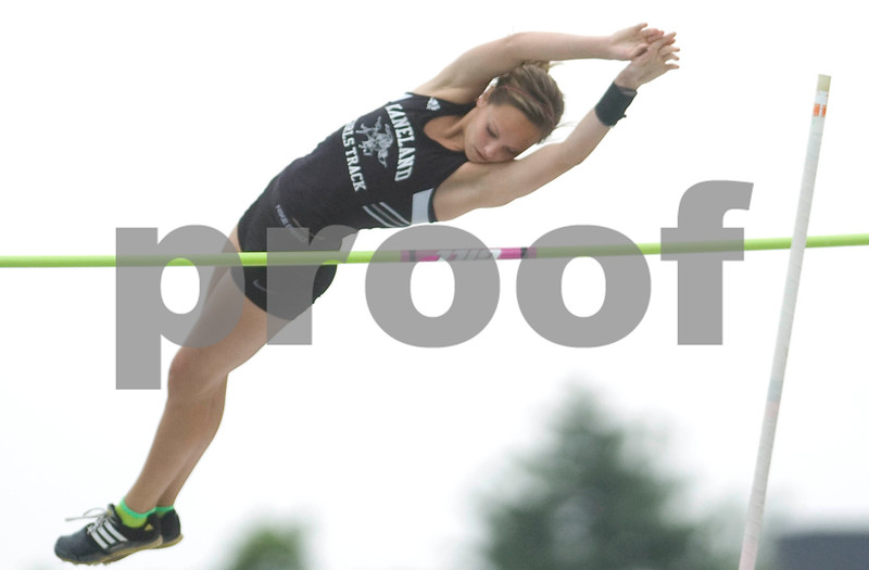 Kaneland's Brooke Patterson pole vaults Friday at the Class 2A State Track Meet in Charleston.