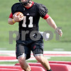 Beck Diefenbach - bdiefenbach@daily-chronicle.com<br /> <br /> Northern Illinois quarterback A. J. Hill during the first practice at Huskie Stadium in DeKalb, Ill., on Thursday Aug. 5, 2010.