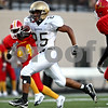 Rob Winner - rwinner@daily-chronicle.com<br /> <br /> Trent Greer runs toward the end zone for Sycamore's third touchdown during the first half of their game against North Lawndale at Lane Stadium in Chicago, Ill. on Saturday August 28, 2010.
