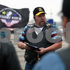 Rob Winner – rwinner@daily-chronicle.com<br /> <br /> Butch Peters, of Batavia, talks with fellow members of the Warriors'  Watch Riders in the parking lot outside of the Wal-Mart in Plano, Ill. on Saturday April 24, 2010.