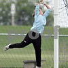 Beck Diefenbach  -  bdiefenbach@daily-chronicle.com<br /> <br /> A goal is scored as the ball slips over the hands of Hinckley-Big Rock's goalie Jessica Leifheit during the first half of the game against Mendota at H-BR in Hinckley, Ill., on Tuesday May 18, 2010.