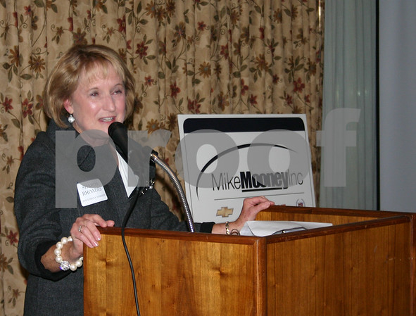Sharon Rhoades congratulated all of Thursday's Athena Award nominees after she was chosen as the 2010 recipient.<br /> <br /> By NICOLE WESKERNA nweskerna@daily-chronicle.com