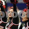 Kyle Bursaw – kbursaw@daily-chronicle.com<br /> <br /> Northern Illinois cheerleaders pump up the crowd in the first quarter of the MAC Championship game at Ford Field in Detroit, Mich. on Friday, Dec. 3, 2010.