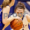 Beck Diefenbach  -  bdiefenbach@daily-chronicle.com<br /> <br /> Hinckley-Big Rock's Kaitlin Phillips (14) keeps her eyes on the ball during the fourth quarter of the game against Newark at H-BR High School in Hinckley, Ill., on Thursday Jan. 14, 2010. H-BR defeated Newark 46 to 30.