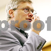 Beck Diefenbach  -  bdiefenbach@daily-chronicle.com<br /> <br /> Dr. Theodore J. Hogan explains the ability to smell the hydrogen sulfide during the DeKalb School Board meeting at the district's administrative offices in DeKalb, Ill., on Thursday July 29, 2010.