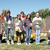 (From left to right) Carissa Goetz, 13, Ashlynn Carlson, 14, Halle Boddy, 13, Kiwanis president Lois Hoffman Anderson, Ashley Curtin, 11, Emma Olson, 12, and Awad Rana