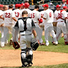 Rob Winner – rwinner@daily-chronicle.com<br /> <br /> DeKalb catcher Jake Lemay returns to his position after Chatham Glenwood celebrates a home run by Jake Lance in the sixth inning during the IHSA Class 3A championship in Joliet, Ill. on Saturday June 12, 2010. Chatham Glenwood defeated DeKalb, 11-1, in six innings.