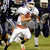 Beck Diefenbach – bdiefenbach@daily-chronicle.com<br /> <br /> Genoa-Kingston running back Mitchell Dander (23) runs for a touchdown during the second quarter of the game against Hampshire at Hampshire High School in Hampshire, Ill., on Friday Sept. 17, 2010.