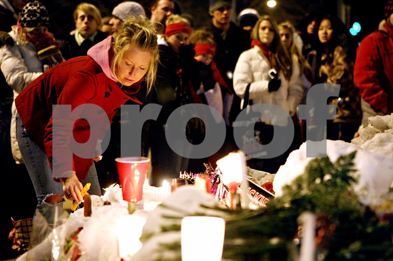 Chronicle File Photo<br /> <br /> Hours after the Cole Hall shooting on February 14, 2008 a midnight vigil was held at Lucinda and Normal Roads in DeKalb, Ill.