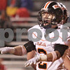 Kyle Bursaw - kbursaw@daily-chronicle.com<br /> <br /> DeKalb Linebacker Robbie Miller signals 'no good' after the Barb's defense stopped the Rocks on 4th and 1 at the goaline during the Barb's first-round playoff game in Rock Island, Ill on Oct. 29, 2010.