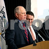 Rob Winner – rwinner@daily-chronicle.com<br /> Governor Pat Quinn (from left) stands with Lawrence Strickling and Bill Foster while announcing that more than $13 million to improve broadband access in northern Illinois on Friday February 19, 2010 at the DeKalb County Farm Bureau  in Sycamore, Ill.
