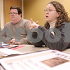 "Kyle Bursaw – kbursaw@daily-chronicle.com<br /> <br /> Probation officers Adam Christiansen and Tammy Wilkinson discuss the STEPS program in a meeting. The program's mission is to ""Increase the number of clients who successfully complete probation, reduce technical violations and reduce future recidivism, in Sycamore, Ill. on Wednesday, Dec. 1, 2010."