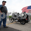 Rob Winner – rwinner@daily-chronicle.com<br /> <br /> Warriors'  Watch Rider Jim West, of Lake Holiday, waits for fellow members to arrive at the Wal-Mart in Plano, Ill. before welcoming home USMC Corporal Kyle LeJeune, of Sandwich on Saturday April 24, 2010.