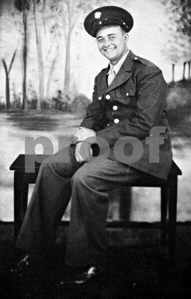 """A photograph of Arvel """"Ozzie"""" Davis from 1944."""