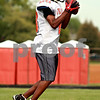 Beck Diefenbach  -  bdiefenbach@daily-chronicle.com<br /> <br /> DeKalb's Javon Scruggs catches a punt return during practice at DeKalb High School in DeKalb, Ill., on Thursday Sept. 9, 2010.