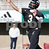 Rob Winner – rwinner@daily-chronicle.com<br /> <br /> DeMarcus Grady releases a pass during NIU football practice on Tuesday March 23, 2010 in DeKalb, Ill.