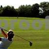 Beck Diefenbach - bdiefenbach@daily-chronicle.com<br /> <br /> Indian Creek sophomore Virginia Fillicetti tacks her ball on the driving range during practice at the Indian Oaks Golf Course in Shabbona, Ill., on Wednesday Aug. 18, 2010.