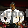 Rob Winner – rwinner@daily-chronicle.com<br /> NIU head coach Ricardo Patton heads back to the bench after Buffalo scores two more points late in the second half on Saturday January 30, 2010 at the Convocation Center in DeKalb, Ill.