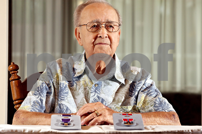 """Rob Winner – rwinner@daily-chronicle.com<br /> <br /> After 65 years, Sycamore resident Arvel """"Ozzie"""" Davis has finally received a Purple Heart and Bronze Star medals.<br /> <br /> Sycamore, Ill.<br /> Saturday September 25, 2010"""