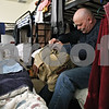 Rob Winner – rwinner@daily-chronicle.com<br /> Randy Matherly organizes his bag within the mens shelter at Hope Haven in DeKalb, Ill. on Friday January 15, 2010. Hope Haven has started a capital campaign to expand its shelter. Specifically, to add more space for families and men.