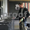 Wendy Kemp - For The Daily Chronicle<br /> NIU student Austin Bourdages finishes voting at the NIU Holmes Student Center on Monday.<br /> DeKalb 10/18/10