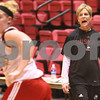 Kyle Bursaw - kbursaw@daily-chronicle.com<br /> <br /> Northern Illinois head coach Kathi Bennett calls out to the players during practice at the Convocation center in DeKalb, Ill. on Nov. 4, 2010.
