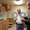 Beck Diefenbach  -  bdiefenbach@daily-chronicle.com<br /> <br /> Village of Malta trustee Jamie Wilson (center) discusses the construction of the new Malta police station with Kishwuakee College president Tom Choice in Malta, Ill., on Monday April 26, 2010.