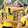 Rob Winner – rwinner@daily-chronicle.com<br /> <br /> Sycamore's Emily Schramer (left) and Nicole Schroeder celebrate their IHSA Class 3A Sycamore Regional championship win on Saturday May 29, 2010 in Sycamore, Ill.