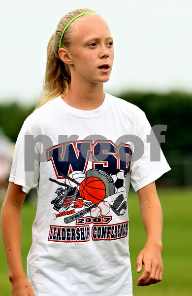 Rob Winner – rwinner@daily-chronicle.com<br /> <br /> Kelsey Schrader during practice in DeKalb, Ill. on Wednesday August 18, 2010.