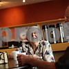 Beck Diefenbach  -  bdiefenbach@daily-chronicle.com<br /> <br /> Dolores Gustafson laughs while talking with friends over coffee at Oak Crest Retirement Center's new coffee shop, Café de Feuille de Chêne, in DeKalb, Ill., on Monday Aug. 30, 2010.