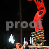 Beck Diefenbach - bdiefenbach@daily-chronicle.com<br /> <br /> Jonathan Rinny balances on a stack of skateboards during the Carson and Barnes Circus at the Sycamore Speedway in Sycamore, Ill., on Monday August 9, 2010.