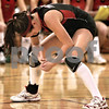 Kyle Bursaw - kbursaw@daily-chronicle.com<br /> <br /> Indian Creek's Anna Stiker stares at the ground after the final play of the IHSA Class 1A Somonauk sectional semifinals match against Morgan Park Academy.