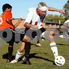 Rob Winner – rwinner@daily-chronicle.com<br /> <br /> Indian Creek's Matt Kyler controls a ball during the first half of the regional quarterfinal game against Byron in Waterman, Ill. on Wednesday October 13, 2010. Indian Creek went on to defeat Byron, 2-1, in double overtime.