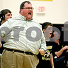 Rob Winner – rwinner@daily-chronicle.com<br /> Sycamore coach Chauncey Carrick reacts to Zack Spiewak's win over DeKalb's Evan Jones in Sycamore, Ill. on Friday January 15, 2010. Sycamore defeated DeKalb 37-28.